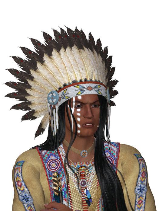 Kriegsbemalung Indianer