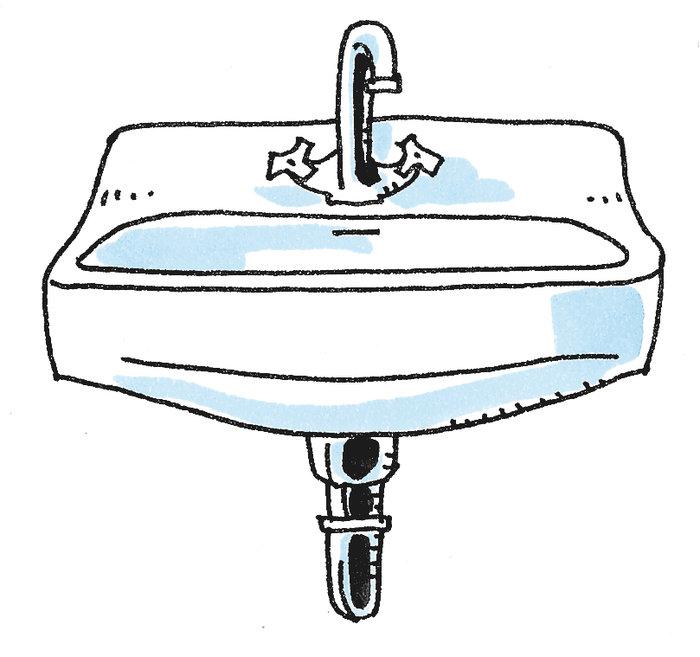Das Waschbecken.Duden Waschbecken Rechtschreibung Bedeutung Definition