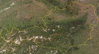 Alpen - Satellitenbild von Österreich