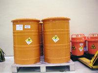 Atommüll - Atommüll, in Tonnen gelagert