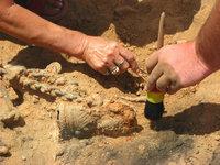 Ausgrabungsarbeit
