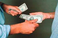 Auszahlung - Eine Auszahlung in bar