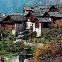 Bergdorf - Das Bergdorf Soglio in Graubünden (Schweiz)