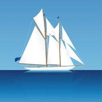 Besansegel - Boot mit Besansegeln