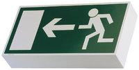 Bildsymbol - Bildsymbol, das den Weg zum Notausgang weist