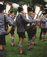 Blasmusik - Blasorchester, das Blasmusik spielt