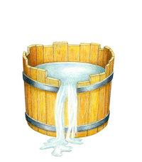 Bottich - Mit Wasser gefüllter Bottich