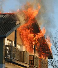 Brand - Brand eines Hauses