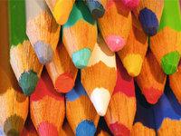 Buntstift - Spitzen verschiedener Buntstifte