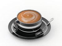 Cappuccino - Eine Tasse mit Cappuccino