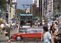 City - Menschen und Verkehr in der City