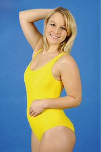Damenbadeanzug - Frau im Badeanzug