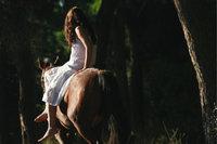 Damensitz - Eine Reiterin im Damensitz