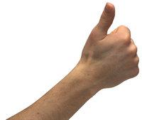 Daumen - Hand mit erhobenem Daumen