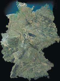 Deutschland - Satellitenbild von Deutschland