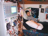 Dialysegerät - Patient an einem Dialysegerät
