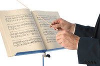 Dirigentenstab - Dirigentenstab und Noten