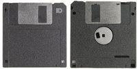 Diskette - Vorder- und Rückseite einer Diskette