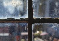 Dreck - Dreck an einer Fensterscheibe