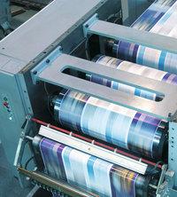 Druck - Druckmaschinen beim Drucken