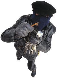 Einbrecher - Einbrecher mit Schlüsselbund