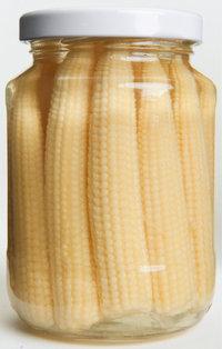 Einmachglas - Mit Maiskolben gefülltes Einmachglas