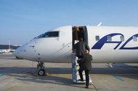 Einstieg - Der vordere Einstieg eines Flugzeugs