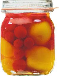 Einweckglas - Mit Früchten gefülltes Einweckglas