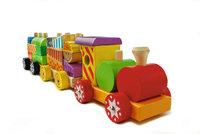 Eisenbahn - Bunte Eisenbahn aus Holz