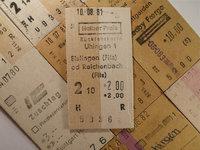 Fahrkarte - Verschiedene Fahrkarten (früher)