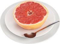 Fleisch - Fleisch einer aufgeschnittenen Grapefruit
