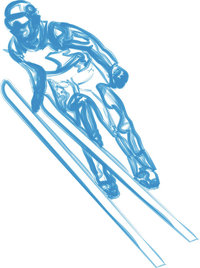 Flug - Flug eines Skispringers