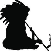 Friedenspfeife - Indianer mit Friedenspfeife