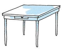 Fuß - Tisch mit vier Füßen