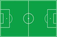 Fußballfeld - Fußballfeld von oben