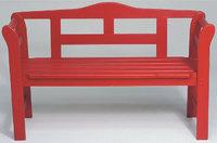 Gartenbank - Rote Gartenbank