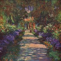 Gartenweg - Gemälde von Claude Monet