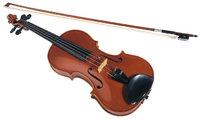 Geige - Geige mit Geigenbogen