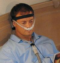 Gesichtsmaske - Patient mit Atemmaske