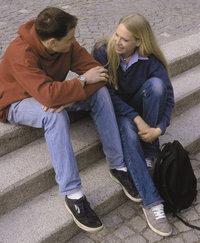 Gespräch - Paar im Gespräch