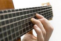 Griffbrett - Griffbrett einer Gitarre