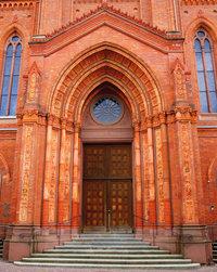 Haupteingang - Haupteingang zu einer Kirche