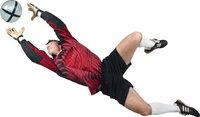 Hechtsprung - Torhüter bei einem Hechtsprung nach dem Ball