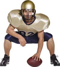 Helm - Footballspieler mit Helm