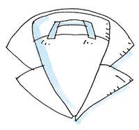 Henkel - Henkel an einem Kleidungsstück