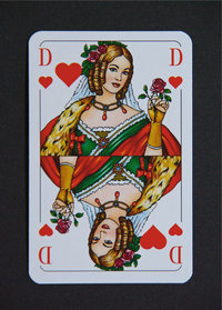 Herzdame - Spielkarte