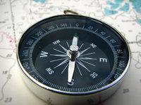 Himmelsgegend - Kompass, der die Himmelsrichtung anzeigt