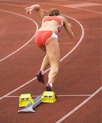 Hochleistungssport - Sprinterin