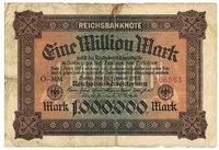Inflationsgeld - Deutsche 1-Million-Mark-Geldnote aus dem Jahr 1924