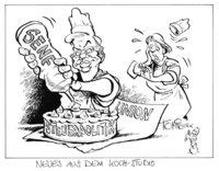 Karikatur - Eine politische Karikatur